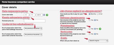 Porównanie cen ubezpieczenia domu w UK